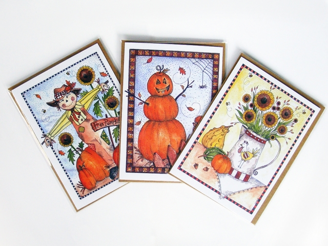 Fall Harvest Greeting Cards