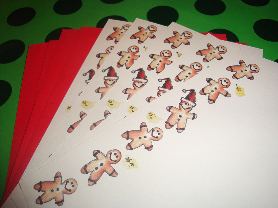 Gingerbread Flat Note Cards