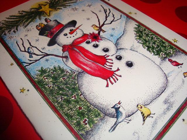 Joyful Snowman Christmas Card
