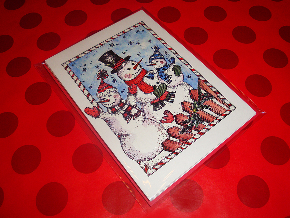 Snowman Family Holiday Card