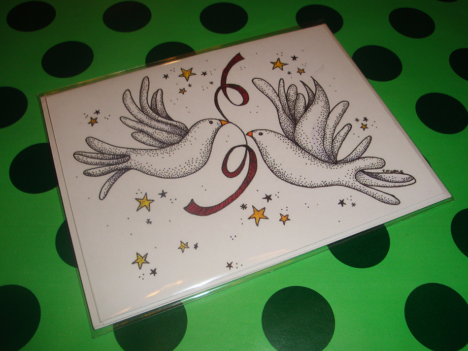 Peaceful Doves Greeting Cards