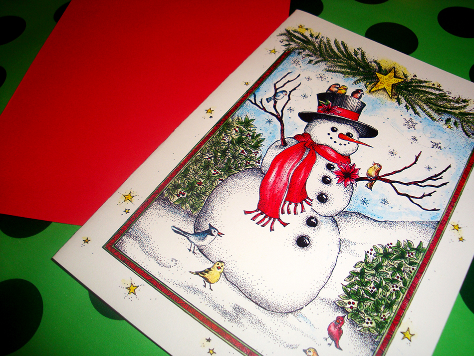 Joyful Snowman Holiday Card