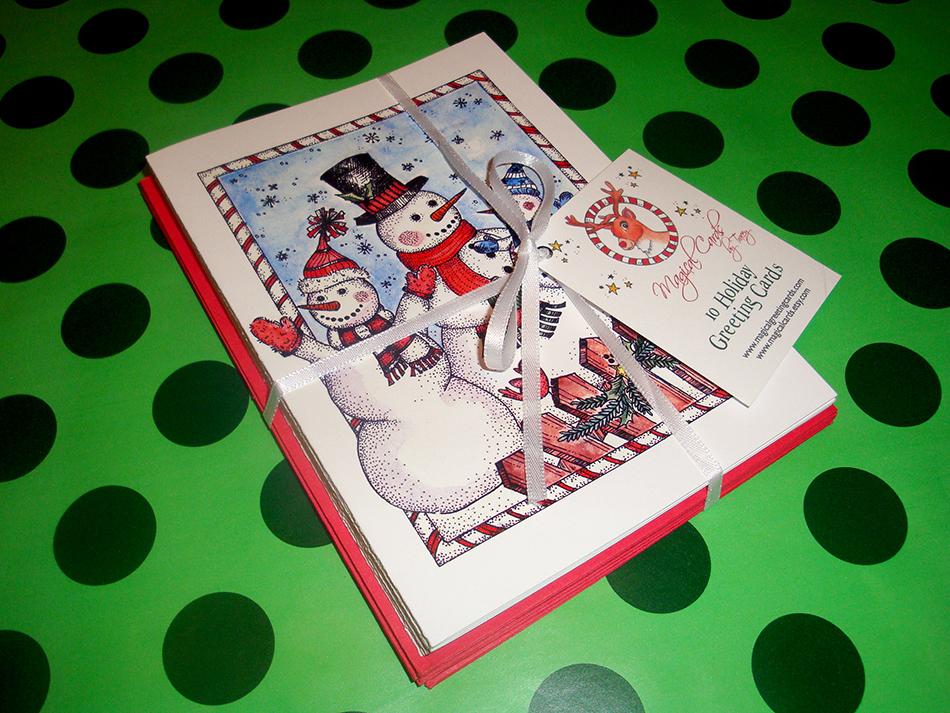 Snowman Family Holiday Cards