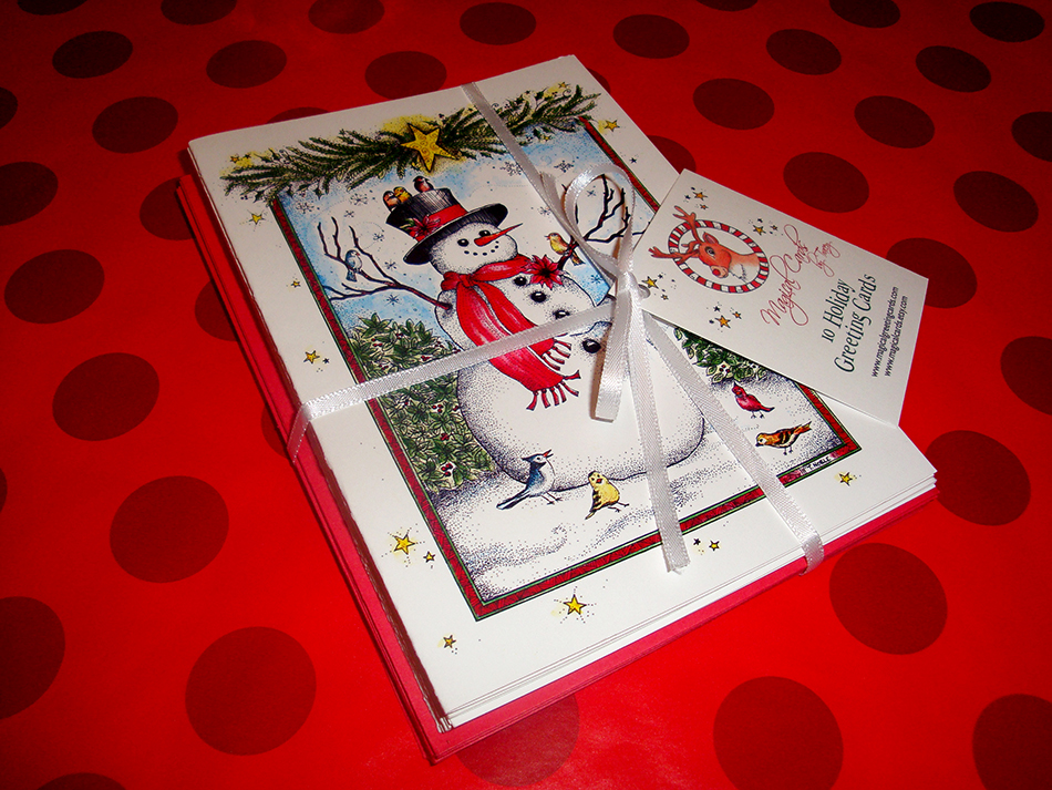 Joyous Snowman Holiday Cards
