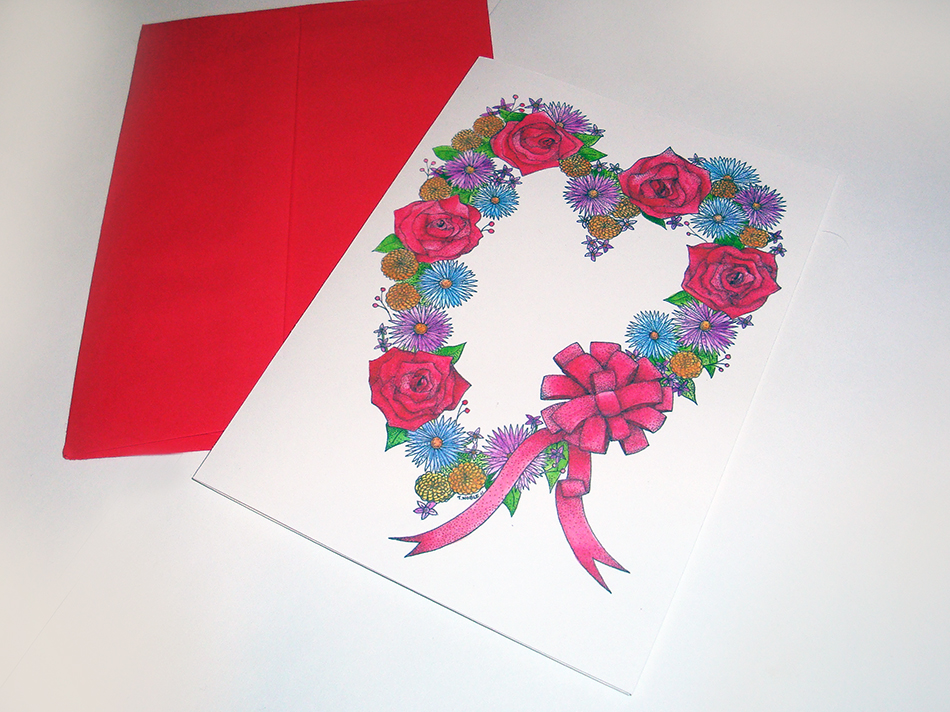 Love Wreath Greeting Card