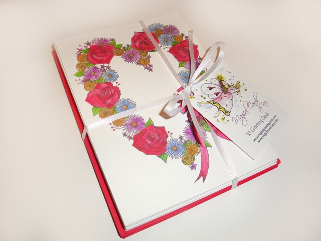 Love Wreath Greeting Cards
