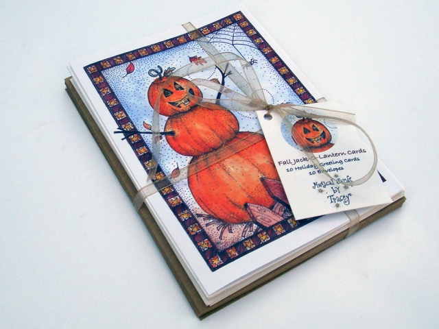 Jack O' Lantern Fall Greeting Cards