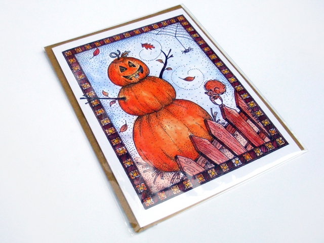 Jack O' Lantern Fall Greeting Card