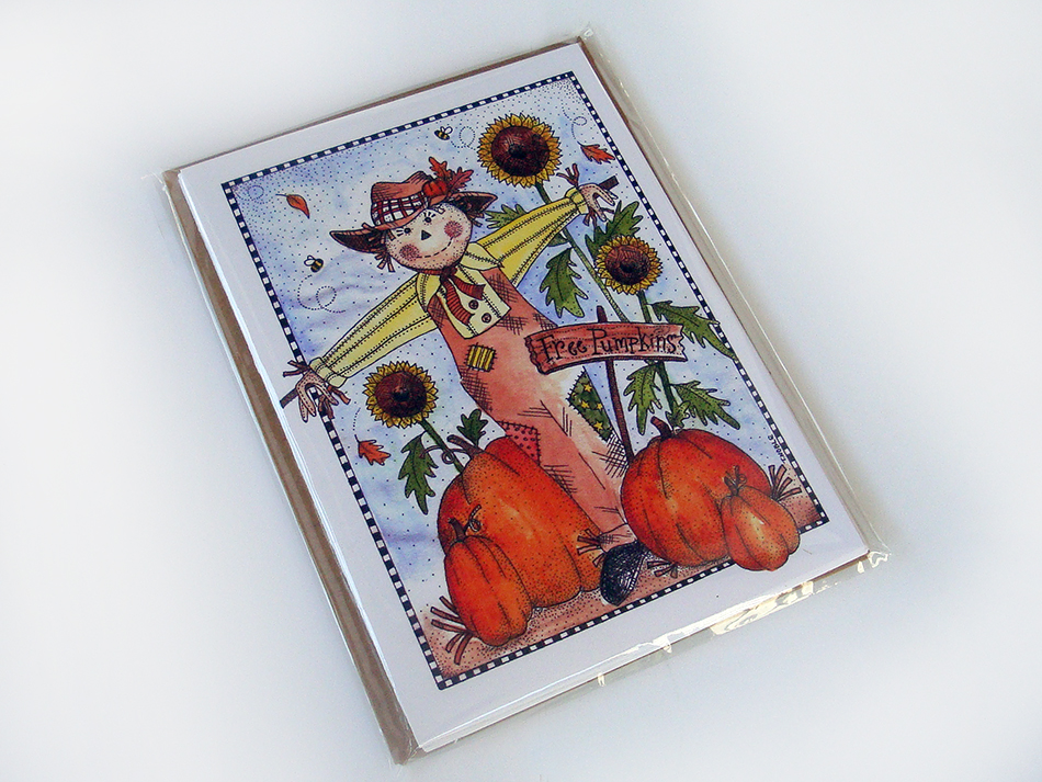 Fall Scarecrow Greeting Card