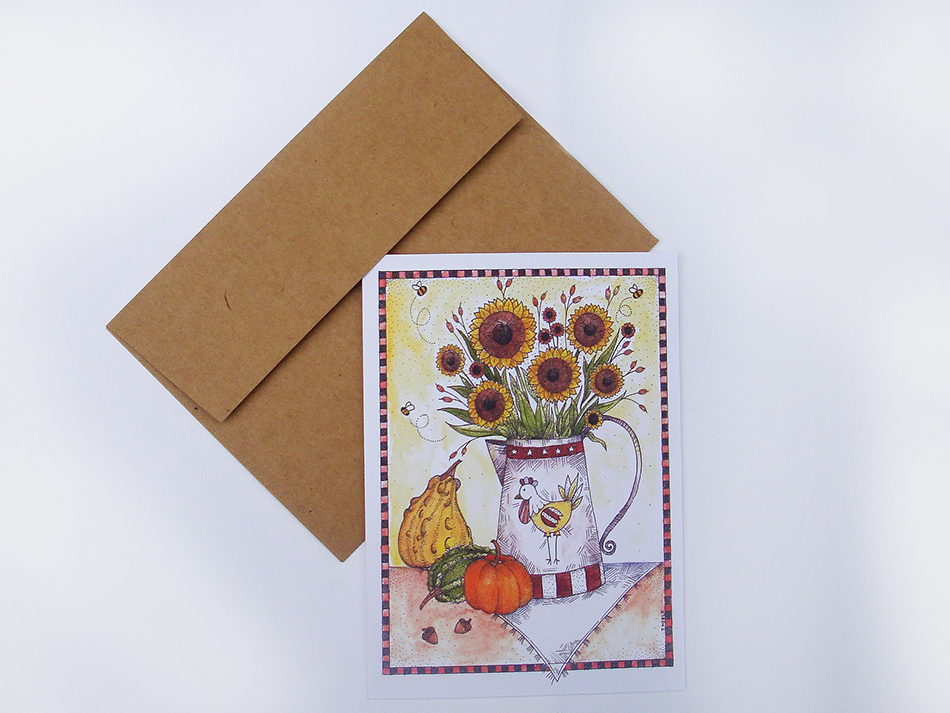 Harvest Sunflowers Greeting Card